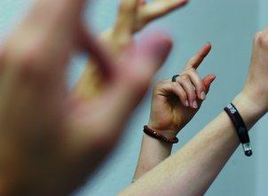 Abstimmen Hände