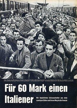 Plakat Für 60 Mark einen Italiener