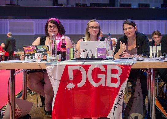 DGB-Jugend Delegation 2. DGB-Kongress