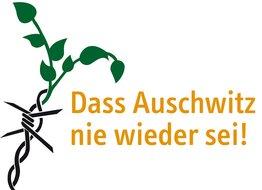 """Schriftzug """"Dass Auschwitz nie wieder sei!"""""""