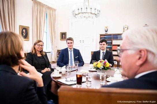 Azubis zu Gast beim Bundespräsidenten