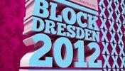 Plakat und Aufruf zur Demo 'Dresden Nazifrei' im Jahre 2012