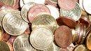 Haufen aus Cent Stückelung 10, 5, 2