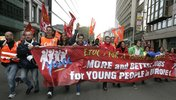 ETUC Demo: More and better Jobs fpr youn people  in europe!