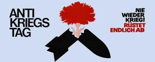Gegen den Krieg - Blume gegen Rakete