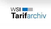 WSI-Tarifarchiv Logo blaue Schrift, grauer Grund