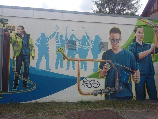Bemalte Wand