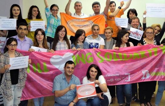 Junge Menschen in Armenien