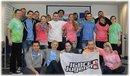Jugendliche in der Gruppe, IG BCE Fahne