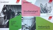 Deckblätter der Studierenden-Broschüren der DGB-Jugend