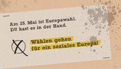 Europawahl Hinweis
