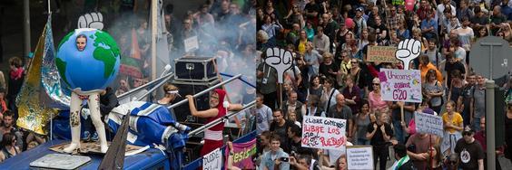 G20: Bunte Demo