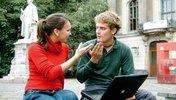 Diskutierende Mann und Frau