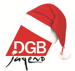 DGB-Jugend-Logo mit Weihnachtsmütze