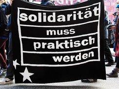 Transparent Solidarität muss praktisch werden