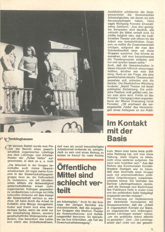 Soli aktuell 1975 Theatertext