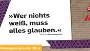 Cover des Flyers zum Jugendildungsprogramm 2014