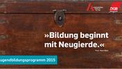 Cover des Flyers des Jugendbildungsprogramms 2015