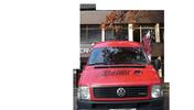 """Bild mit roten DGB-Bus und Aufdruck """"Solidarity Reloaded"""", Aufschrift """"Berlin-Brandenburger Ausbildungsreport 2007. Beobachtungen, Analysen und Standpunkte zur Ausbilung in Berlin und Brandenburg"""" sowie Logos der DGB-Jugend und von Solidarity Reloaded"""